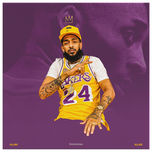 King Kobe x King Nipsey Square Canvas