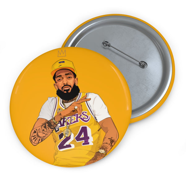 King Nipsey Lakers Button