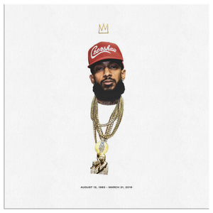 King Nipsey OG Square Canvas