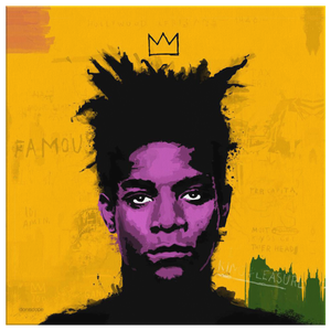 Basquiat Square Canvas