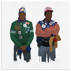 Akeem & Semi Square Canvas