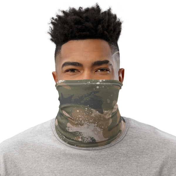 Painted Camo Face Mask/ Neck Gaiter