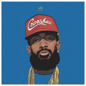 King Nipsey V2 Square Canvas (Red Hat)