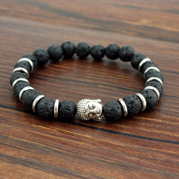 Tigers Eye Natural Stone Buddha Charm Energy Bracelets For Women and Men