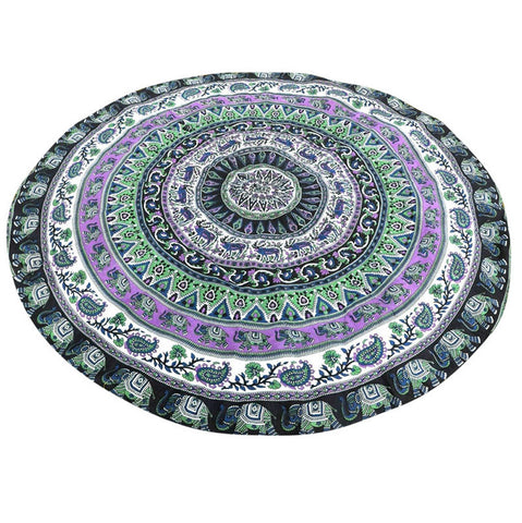 Gana Indian Elephant Mandala Blanket