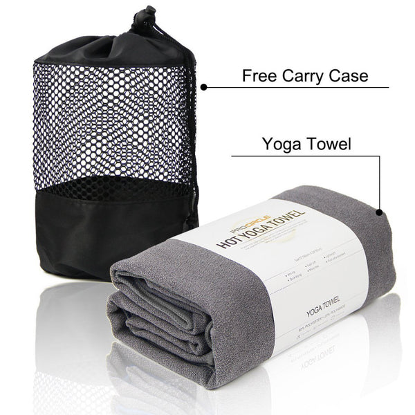 "Yoga Towel with 4 Corner Pockets - 24"" x 72"" - Microfiber Hot Yoga Towel, Bikram Yoga Towel, Ashtanga Yoga"