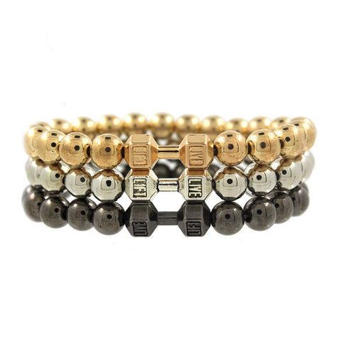 Yoga Dumbbell Buddha Beads Bracelet New Arrival