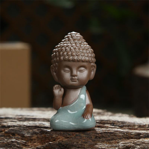 Buddha Statue Figurine Incense Burner