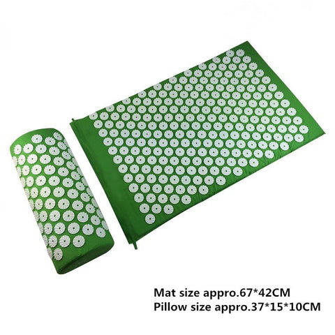 Acupressure Mat Relieve Stress and Pain Acupuncture Spikes Yoga Mat with Pillow