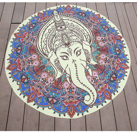 Antique Chiffon  Elephant Indian Bohemian Mandala Tapestry Throw  Blanket