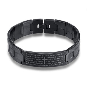 Our Father Bracelet Matte Black