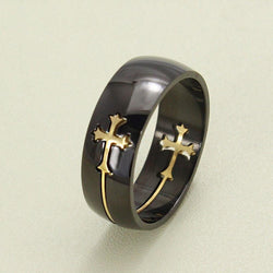 Deluxe Cross Ring Black Gold Edition