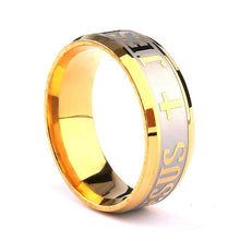 18k Gold Plated Jesus Ring