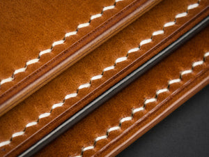 Full Grain Creations bespoke leather goods edge finishes