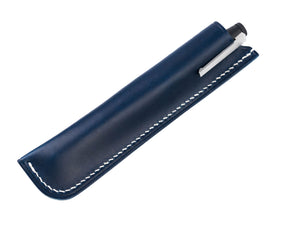 blue Buttero leather Samsa pen sleeve