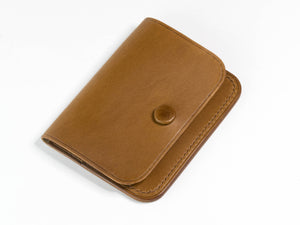 Slim Leather Pouch Wallet
