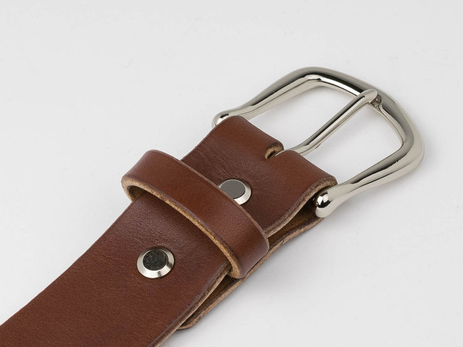 Leather Belt - Medium Brown