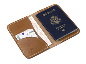 leather passport cover monogramed