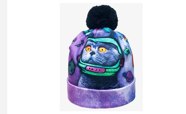 EMPOWER 3D Animal Print Women Skully Winter Hat