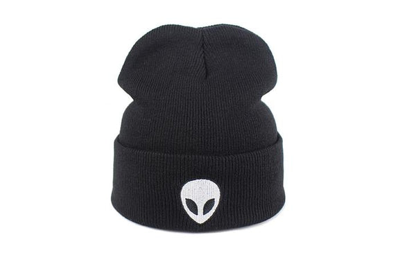 Illfly UFO Alien Knit Beanie Winter Hat