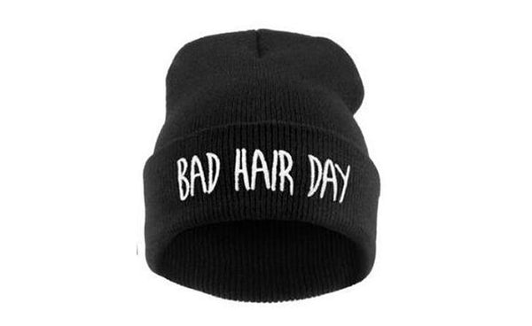 OCEAN BLUEVIN 'Bad Hair Day' Black Skullie Winter Hat