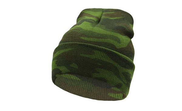 AETRUE Acrylic Camouflage Skully Winter Hat