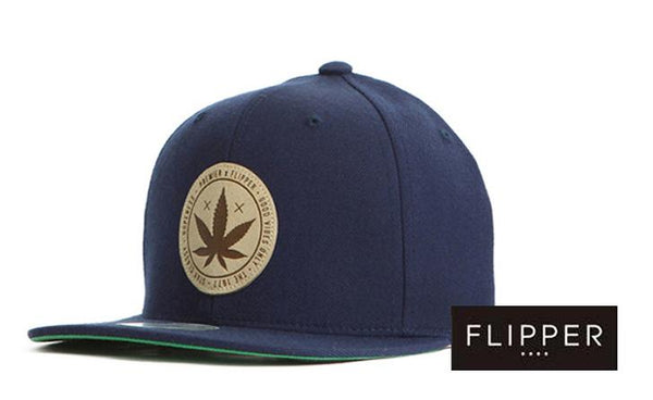 FLIPPER '420' Navy Blue Snapback