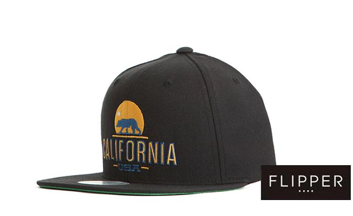 PREMIER 'California Bear' Black Snapback