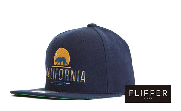 PREMIER 'California Bear' Navy Blue Snapback