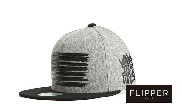 FLIPPER 'US Flag' Grey Snapback