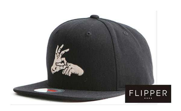 FLIPPER 'Finger' Black Snapback