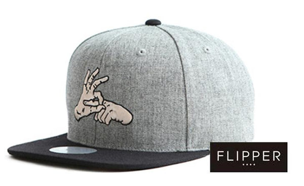 FLIPPER 'Finger' Grey Snapback