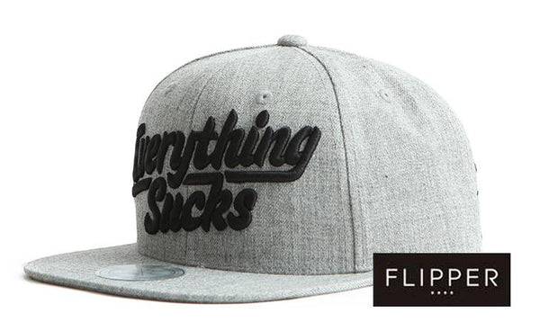 FLIPPER 'Everything sucks' Grey Snapback