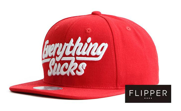 FLIPPER 'Everything sucks' Red Snapback