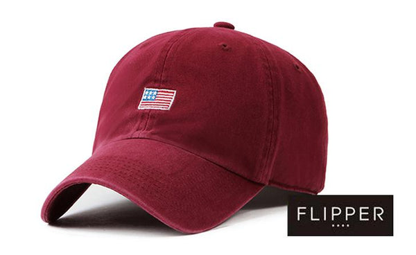 FLIPPER 'US Flag' Wine Red Cap