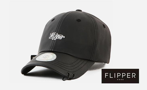 FLIPPER Coating Denim Two Rings Black Cap