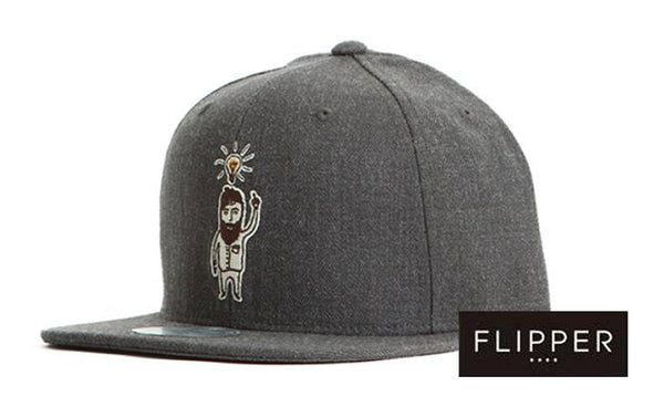FLIPPER 'Good Idea Dude' Grey Snapback
