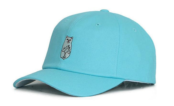 Sky Blue 'Middle Finger Cat' Cap