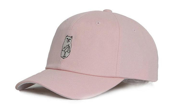 Pink 'Middle Finger Cat' Cap