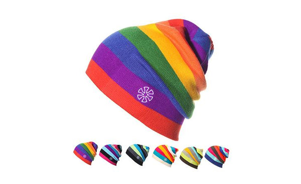 Gemay G.M Unisex Rainbow Beanie Winter Hat