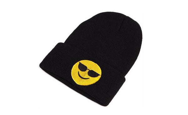 KLV Emojis Black Skully Winter Hat