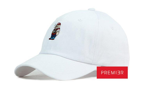 PREMIER 'Bad Bear' White Cap