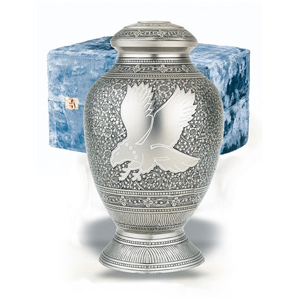 Eagle Urn with Blue Case