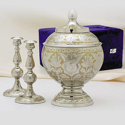 Etched SilverGold Memorial Set