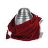 "Brushed Pewter Alloy Urn 6"" with Pouch"