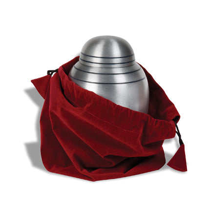 "Brushed Pewter Alloy Urn 7"" with Pouch"