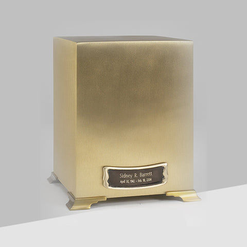 Simplicity Cube Urn with Medallion