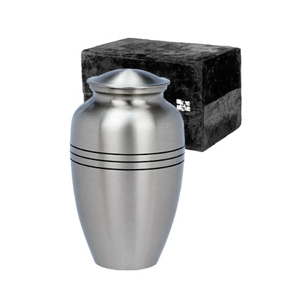 "Classic Pewter Urn 10"" with box"