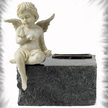 BlackGrain Marble Angel Urn