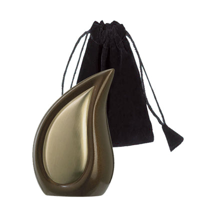 Bronze Tone Tear Drop Keepsake Urn